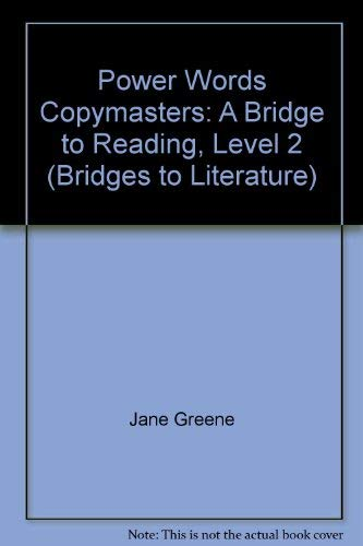 Power Words Copymasters: A Bridge to Reading, Level 2 (Bridges to Literature): Jane Greene