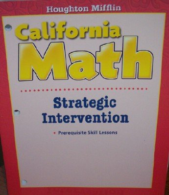 Strategic Intervention Grade 6 (California Math)
