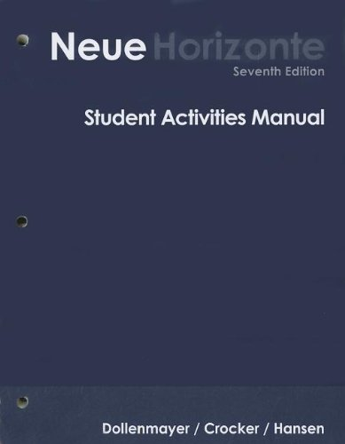 9780618953905: Student Activities Manual for Dollenmayer's Neue Horizonte: Introductory German, 7th