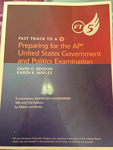 9780618954513: Wilson American Government Fast Track To A Five For Advanced Placementprint Eleventh Edition