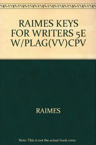 9780618955527: RAIMES KEYS FOR WRITERS 5E W/PLAG(VV)CPV