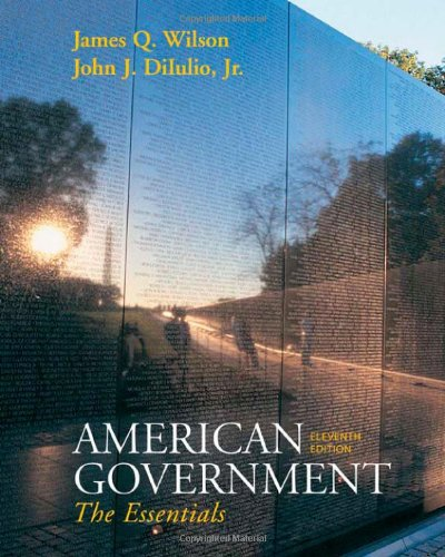 9780618956623: Wilson American Government Essentials Version Eleventh Edition