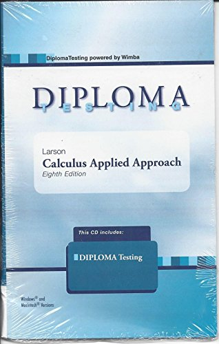 Diploma Testing CD for Calculus Applied Approach by Larson, 8th Edition