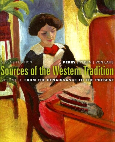 9780618958573: Sources of the Western Tradition: v. 2