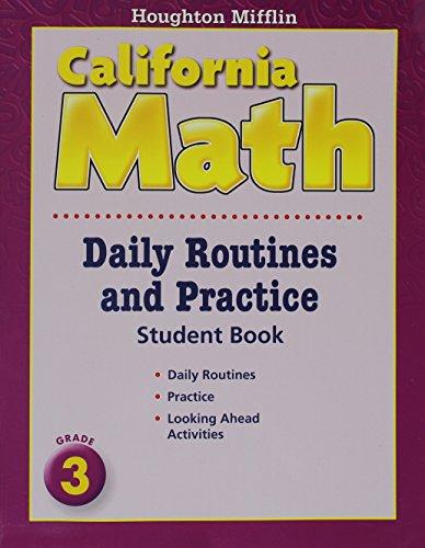 9780618959983: Houghton Mifflin Mathmatics California: Daily Routine And Practice Book Level 3