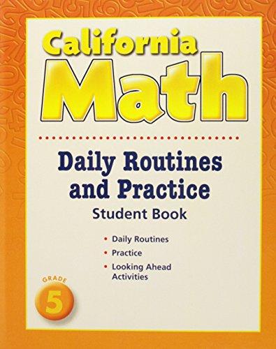 9780618960033: Houghton Mifflin Mathmatics California: Daily Routine And Practice Book Level 5