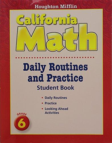 9780618960040: Mathmatics, Grade 6 Daily Routine and Practice Book: Houghton Mifflin Mathmatics California