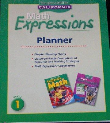 9780618960354: Houghton Mifflin Mathmatics California: Planner Level 1