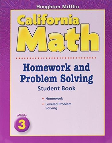9780618961283: Houghton Mifflin Mathmatics California: Homework And Problem Solving Book Consumable Level 3