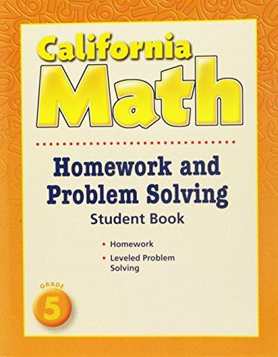 9780618961320: Houghton Mifflin Mathmatics California: Homework And Problem Solving Book Consumable Level 5