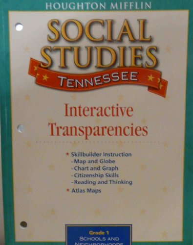 Social Studies, Grade 1: Tennessee Unit Resources-Packaged Set Of Four Softcover Items (2009 ...