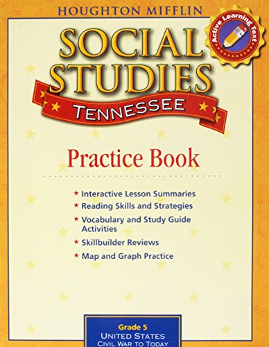 9780618965083: Houghton Mifflin Social Studies Tennessee: Practice Book Consumable Lv 5