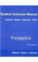 9780618966738: Aufmann Prealgebra Student Solutions Manual Fifth Edition