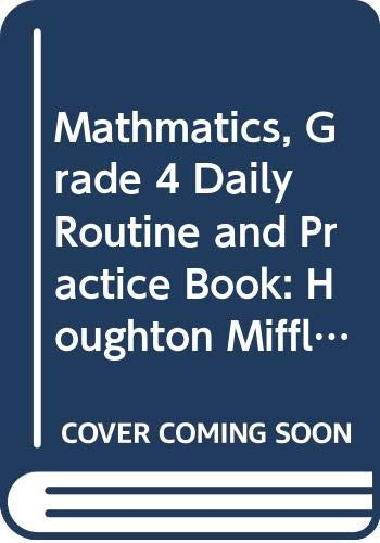 9780618968978: Houghton Mifflin Mathmatics Texas: Daily Routines And Practice Book Level 4