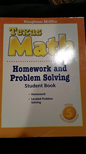 9780618969050: Houghton Mifflin Mathmatics Texas: Homework And Problem Solving Book Level 5