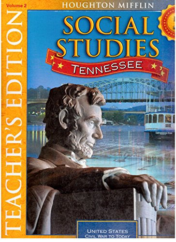 9780618973477: Houghton Mifflin Social Studies: Tennessee - 5, Volume 2 - Teacher's Edition (Civil War to Today)