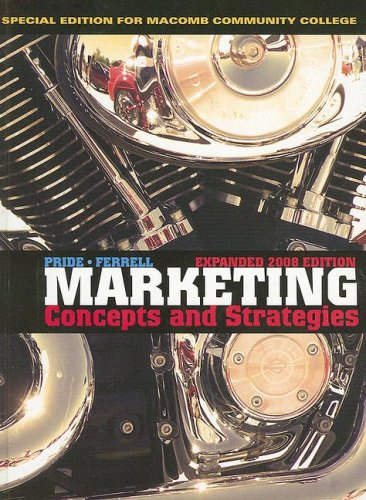 9780618977956: Marketing Concepts and Strategies: Special Expanded Edition