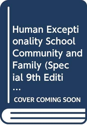 9780618978946: Human Exceptionality School, Community, and Family (Special 9th Edition with Study Guide)