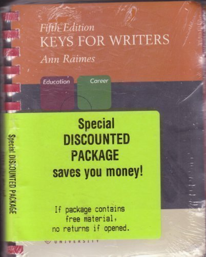 9780618980123: Keys for Writers Fifth Edition [Value-pack]