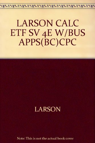 9780618981328: LARSON CALC ETF SV 4E W/BUS APPS(BC)CPC
