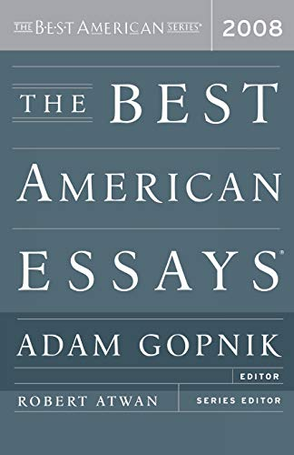 9780618983223: The Best American Essays 2008 (The Best American Series )