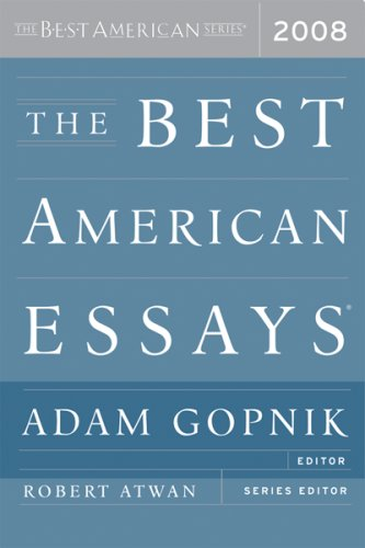 9780618983315: The Best American Essays 2008