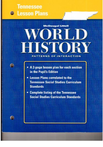 9780618983414: Tennessee Lesson Plans (McDougal Littell World History Patterns of Interaction)