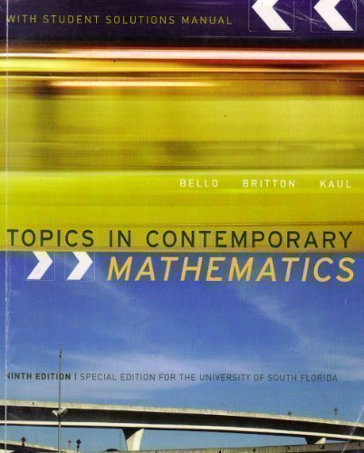 9780618986910: Topics in Contemporary Mathematics with Student Solutions Manual (Special Edition for the University