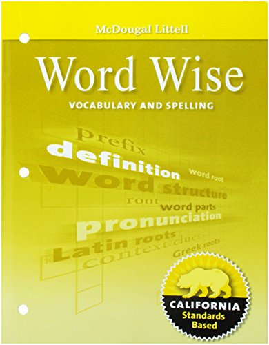 9780618987948: Literature, Grade 6 Word Wise Vocabulary and Spelling: Mcdougal Littell Literature California