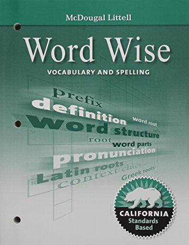 9780618988327: Literature, Grade 8 Word Wise Vocabulary and Spelling: Mcdougal Littell Literature California