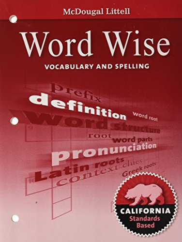 9780618988556: Literature, Grade 7 Word Wise Vocabulary and Spelling: Mcdougal Littell Literature California