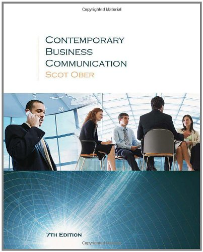 9780618990481: Contemporary Business Communication Seventh Edition
