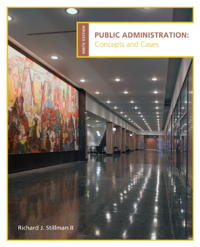 9780618993017: Public Administration: Concepts and Cases