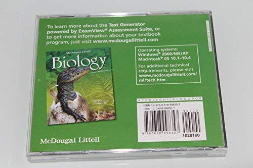 9780618998357: Holt McDougal Biology: ExamView Suite 6.0 Test Generator CD-ROM