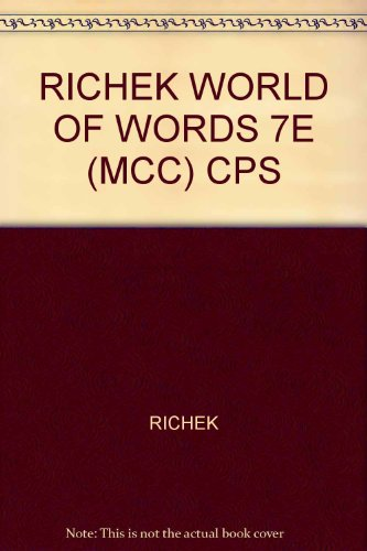 9780618998395: The World of Words: Vocabulary for College Success (Selected Chapters)
