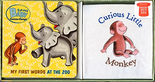 9780618999538: Curious Baby My First Words at the Zoo Gift Set (Curious George Book & T-shirt) (Curious Baby Curious George)