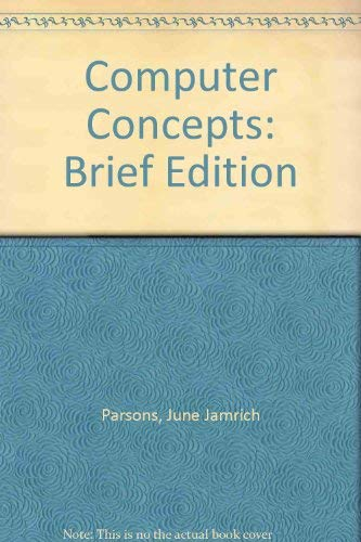 9780619017392: Computer Concepts - Illustrated Brief, Third Edition
