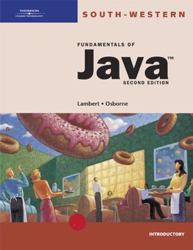 9780619059712: Fundamentals of Java: Introductory