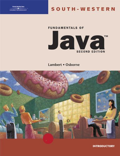 Activities Workbook for Lambert/Osborne's Fundamentals of Java: Kenneth Lambert, Martin