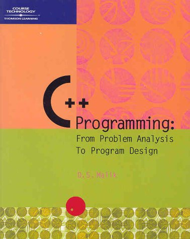 9780619062132 C Programming From Problem Analysis To Program