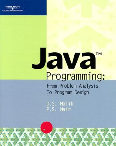 9780619064976: Java Programming: From Problem Analysis to Program Design