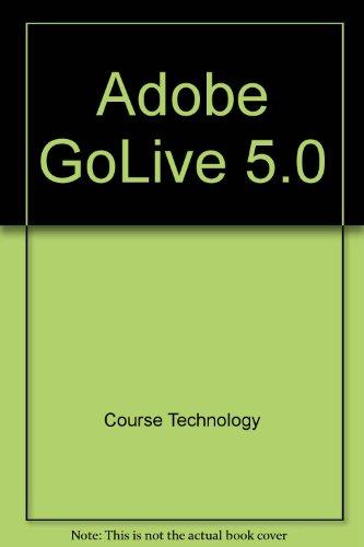 9780619109578: Adobe GoLive 5.0