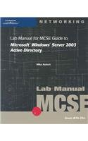 9780619130190: 70-294: Lab Manual for MCSE Guide to Microsoft Windows Server 2003 Active Directory
