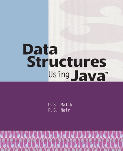 Data Structures Using Java (0619159502) by Malik, D. S.