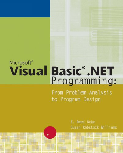 9780619160104: Microsoft Visual Basic .NET Programming: From Problem Analysis to Program Design