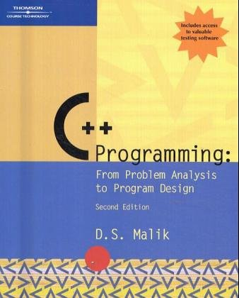 9780619160425: C++ Programming: From Problem Analysis to Program Design, Second Edition