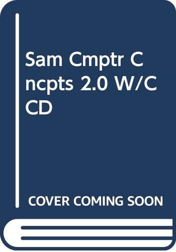 9780619173197: SAM Computer Concepts 2.0 Student Tutorial with CD