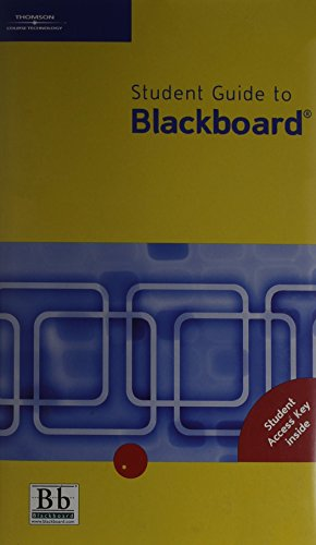 9780619173890: Blackboard Student User Guide, Generic (with PIN CODE)