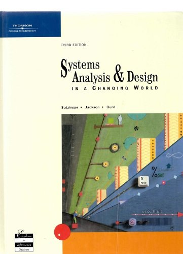 9780619213251: Systems Analysis and Design in a Changing World, Third Edition