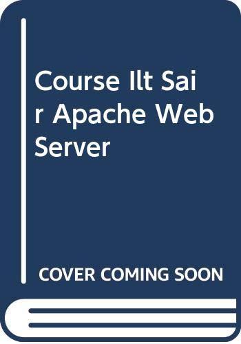 9780619214685: Course Ilt Sair Apache Web Server